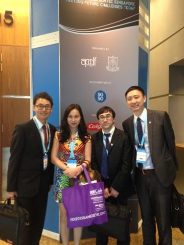 2015-4-3 出席新加坡第37屆亞太牙科聯盟年會(APDC)