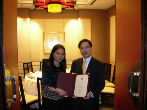 2008-11-15 出席香港牙醫學會交流活動