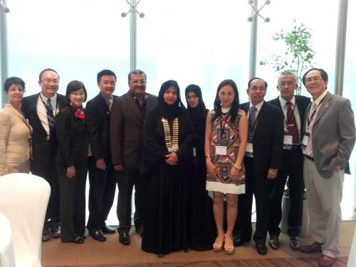 2014-6-17 出席阿聯酋第36屆亞太牙科聯盟年會(APDC)
