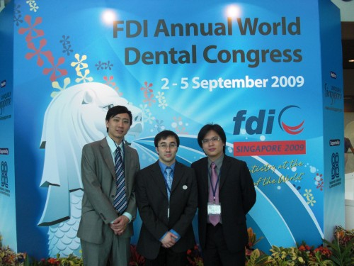 2009-9-2 出席新加坡世界牙醫聯盟年會(FDI)