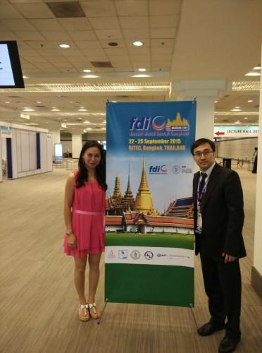 2015-9-22 出席泰國世界牙醫聯盟(FDI)年會